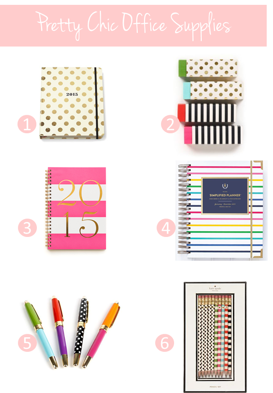 Chic office supplies 3 things you need now to set yourself for Trendy office supplies